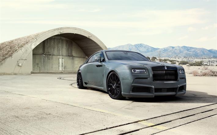 Download Wallpapers Rolls Royce Wraith Black Badge 2017