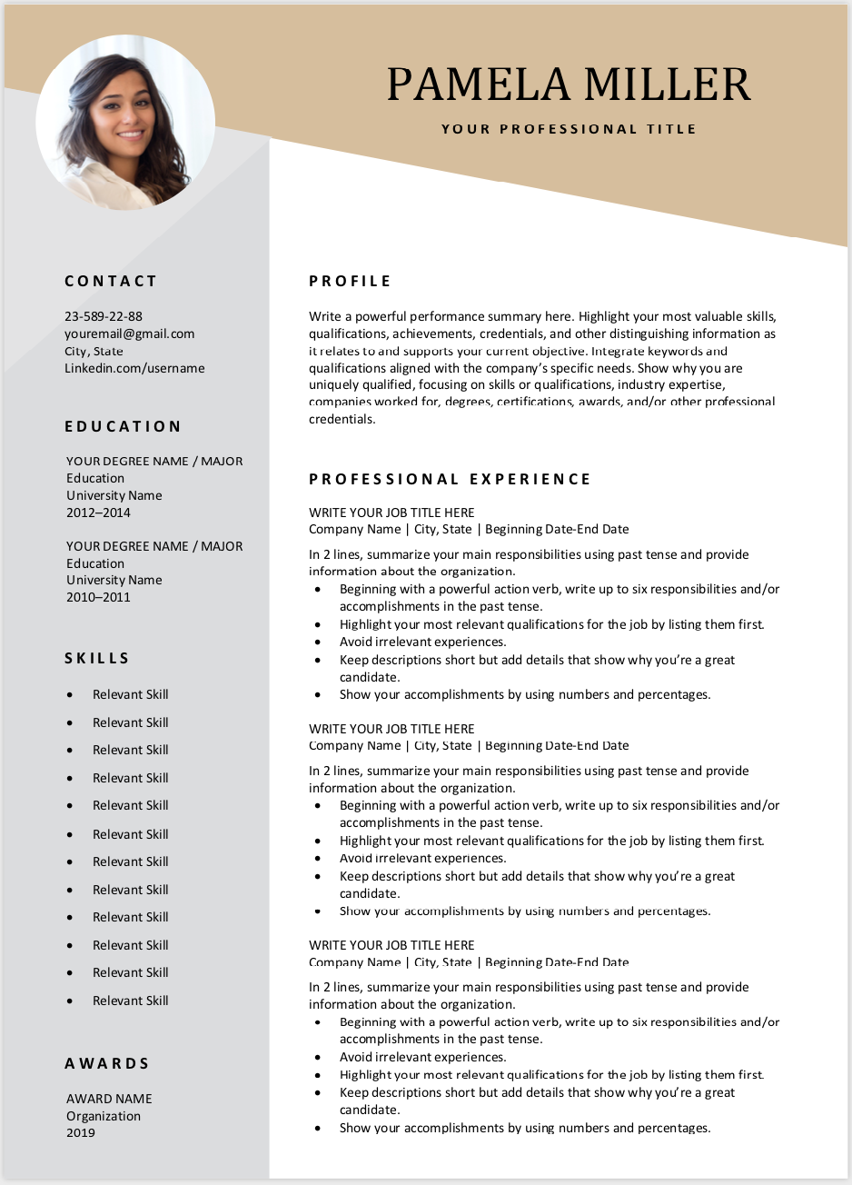 modern resume template download for free cv examples graduate students with no experience esl teacher sample google resumes