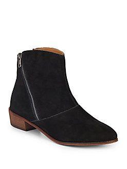 Verla Suede Zip Ankle Boots // Kelsi Dagger Brooklyn