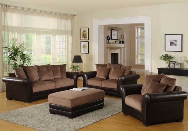 decorating living with and loving a brown sofa. lovely living room