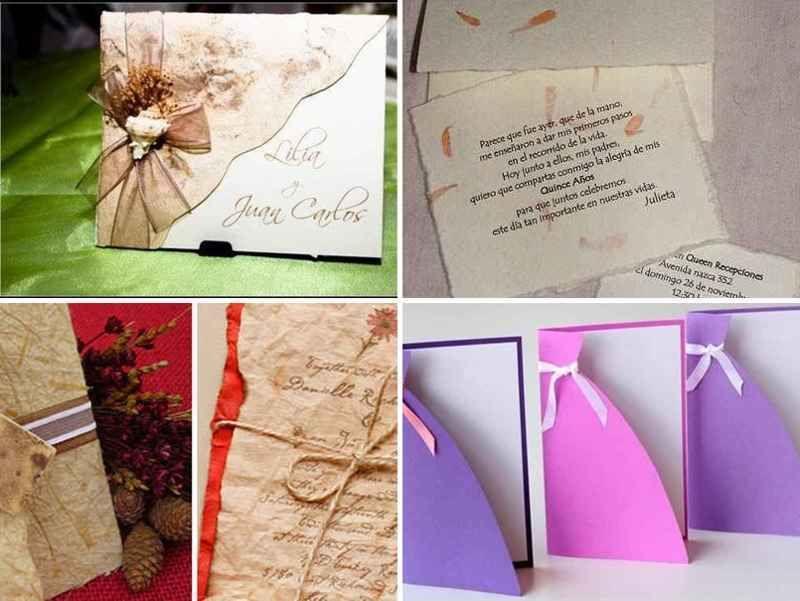 Invitaciones Para 15 Años Con Materiales Reciclados 4 Tile
