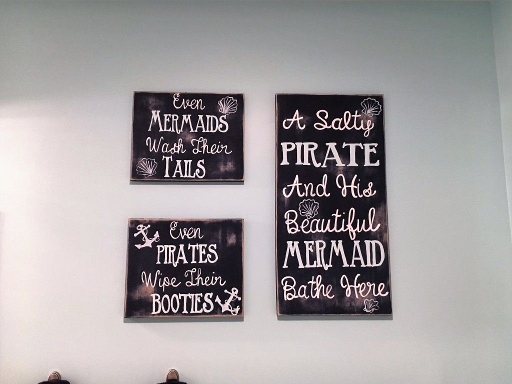 Women S Nautical Bathroom Decor Ideas: A Nautical Mermaid & Pirate Themed Bathroom