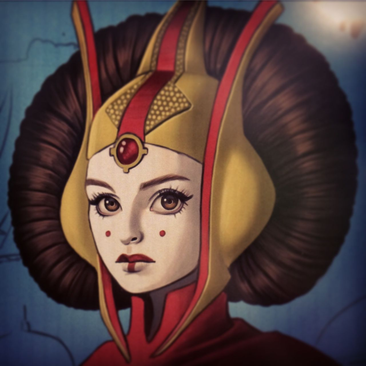 Chrissie Zullo Wip Painting Project Fandango Force Star Wars Art