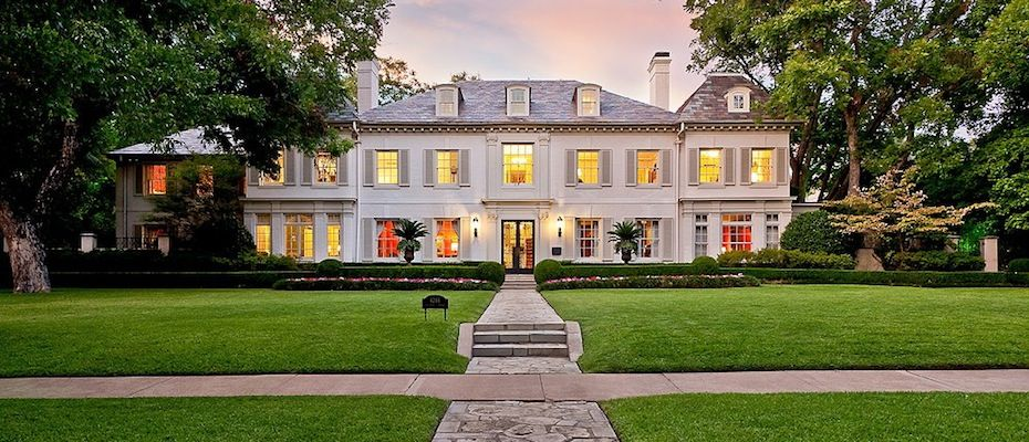 This french inspired mansion is located at 4248 armstrong for Mansions in dallas tx