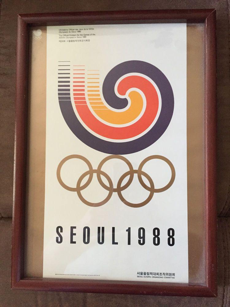 Original Seoul Korea 1988 Summer Olympic Games Poster