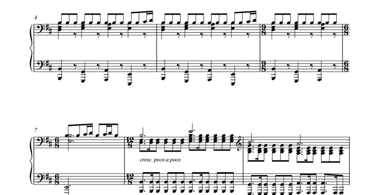 Skyrim Main Theme For Piano Sheet Pdf Kyle Landry Piano Sheet