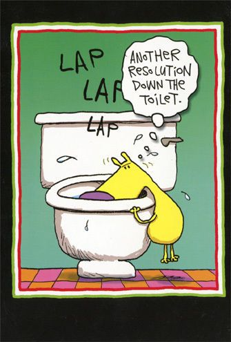 resolution toilet 12 funny boxed new year cards by nobleworks nobleworks newyear