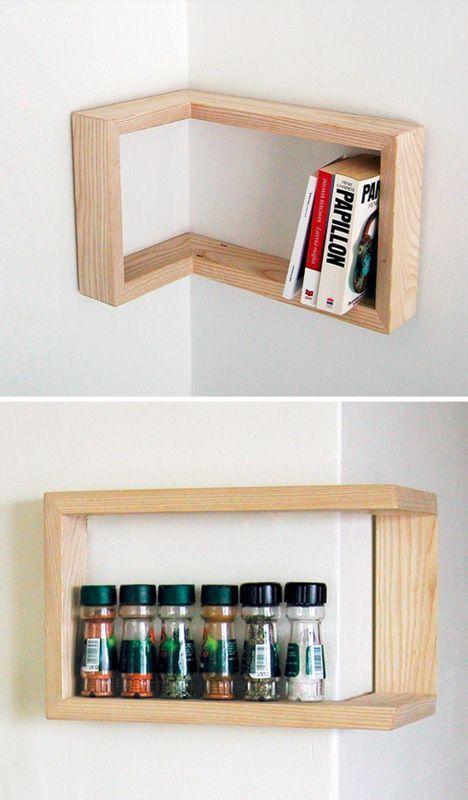 Edge Cases 8 Space Saving Design Ideas For Inside Corners Smart Functional Furniture Design Inspi Mobiliario Para Economizar Espaco Diy Casa Prateleiras Diy