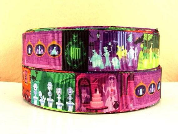 """Disney inspired Haunted Mansion 1""""width ribbon in 5 yard pack"""