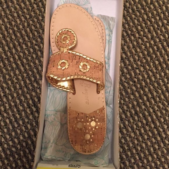 Jack Rogers Jack Rogers, cork with gold trim, size 7.5. BRAND NEW!! Shoes Sandals