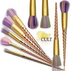 golden unicorn makeup brush set from wwwglowcultcosmetics