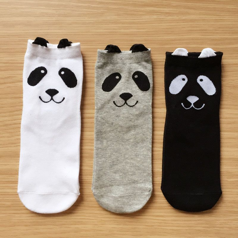 Free shipping New Warm Cute Cartoon Panda Korean Socks For Women Girl Lady Spring And Summer  Lovely Hot Sale
