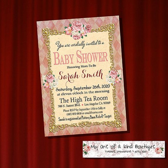 Baby Shower invitation Shower Party invite by myooakboutique