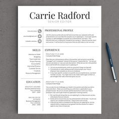 Classic Professional Resume Template For Word Us Letter And A