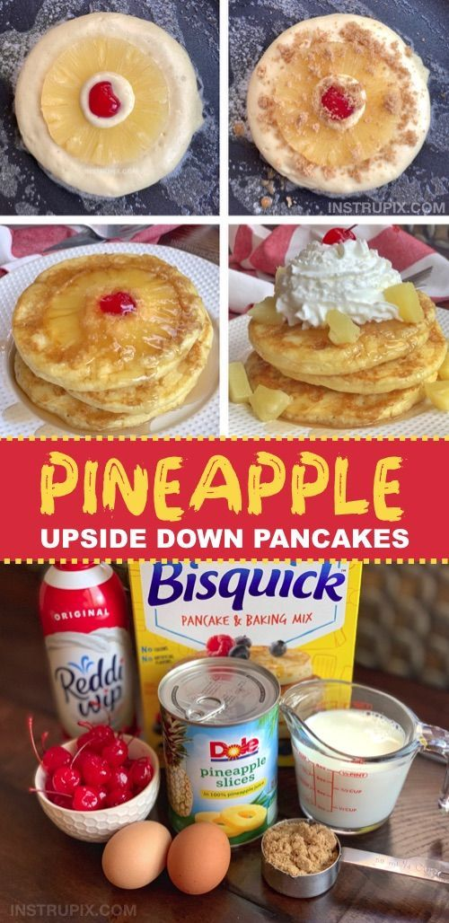 My family's favorite!! Super fun breakfast idea: Pineapple Upside Down Pancakes - #breakfast #family #familys #favorite #Fun #Idea #pancakes #pineapple #super #upside