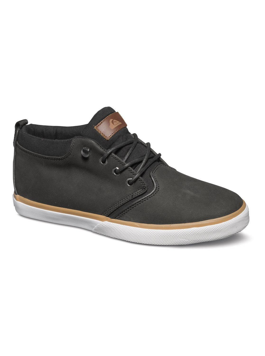 quiksilver, Griffin FG Suede Shoes, BLACK/BROWN/WHITE (xkcw)