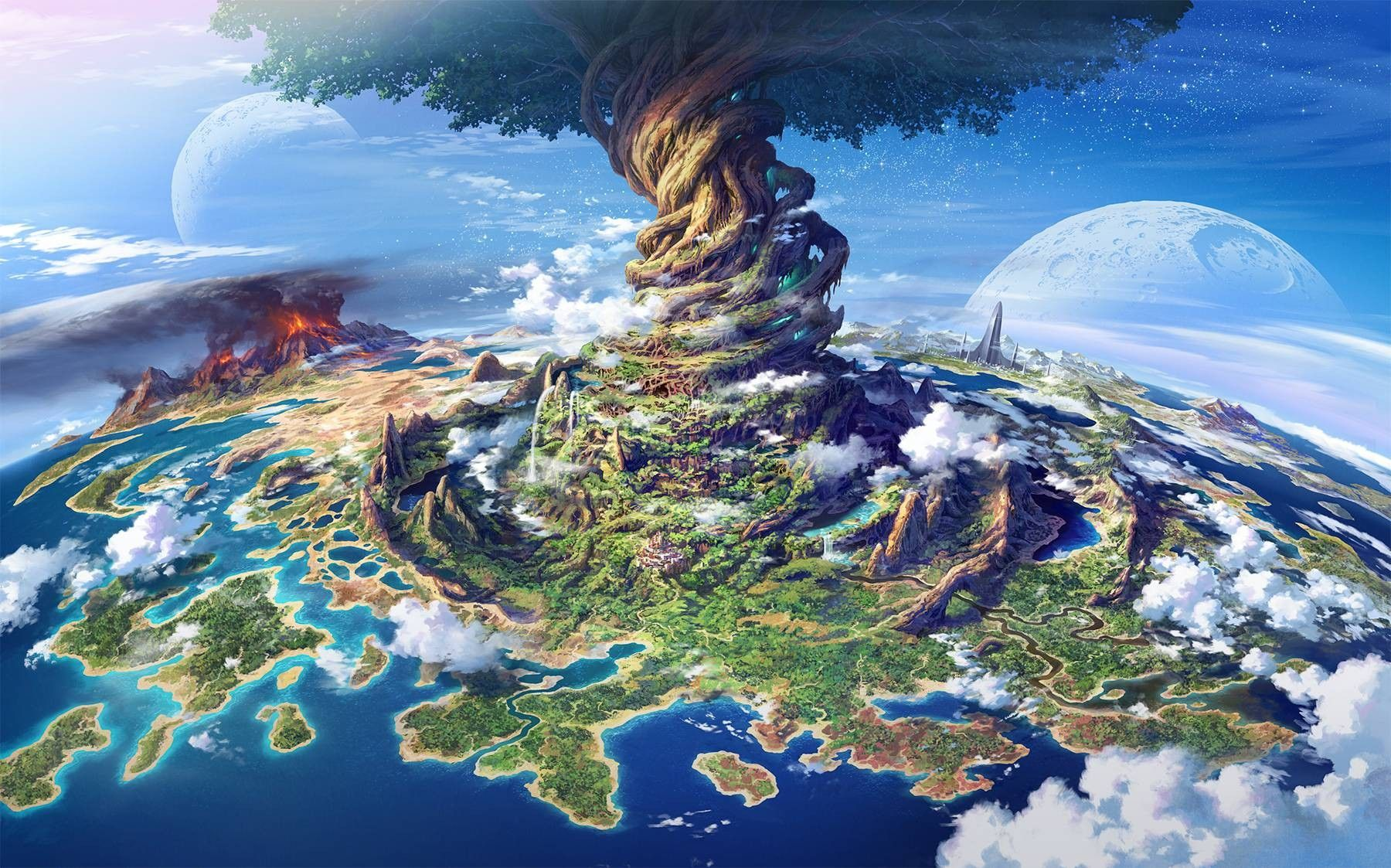 Special Message Creating New Earth Fantasy landscape