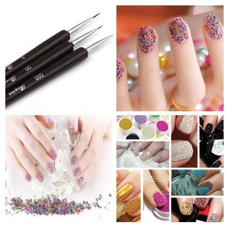 350buy Fashion Caviar Nails Art New 12 Colors plastic Beads Manicures or Pedicures Nail Art Hot Sales (Style1)