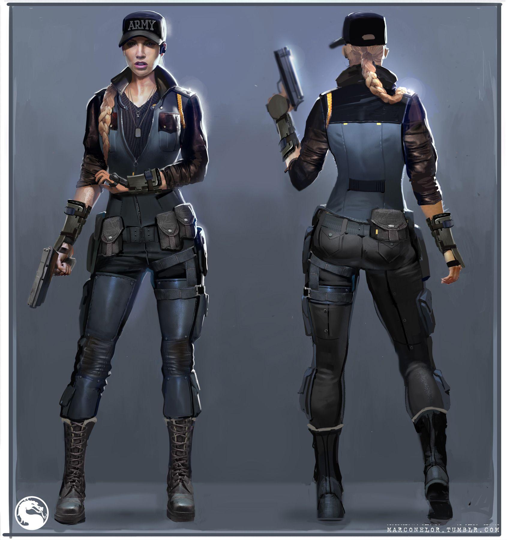 Character Design Mortal Kombat : Mortal kombat mkx concept art mn sonya design