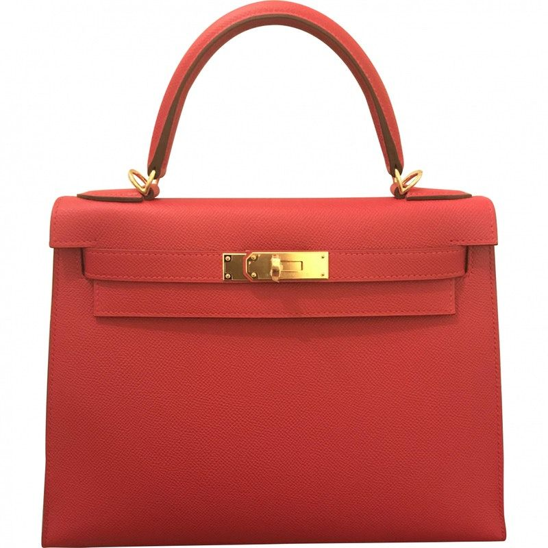 60ee89c30ba6 red Plain Leather HERMÈS Handbag - Vestiaire Collective Om man har 160.000  i byrålådan..... | Väskor