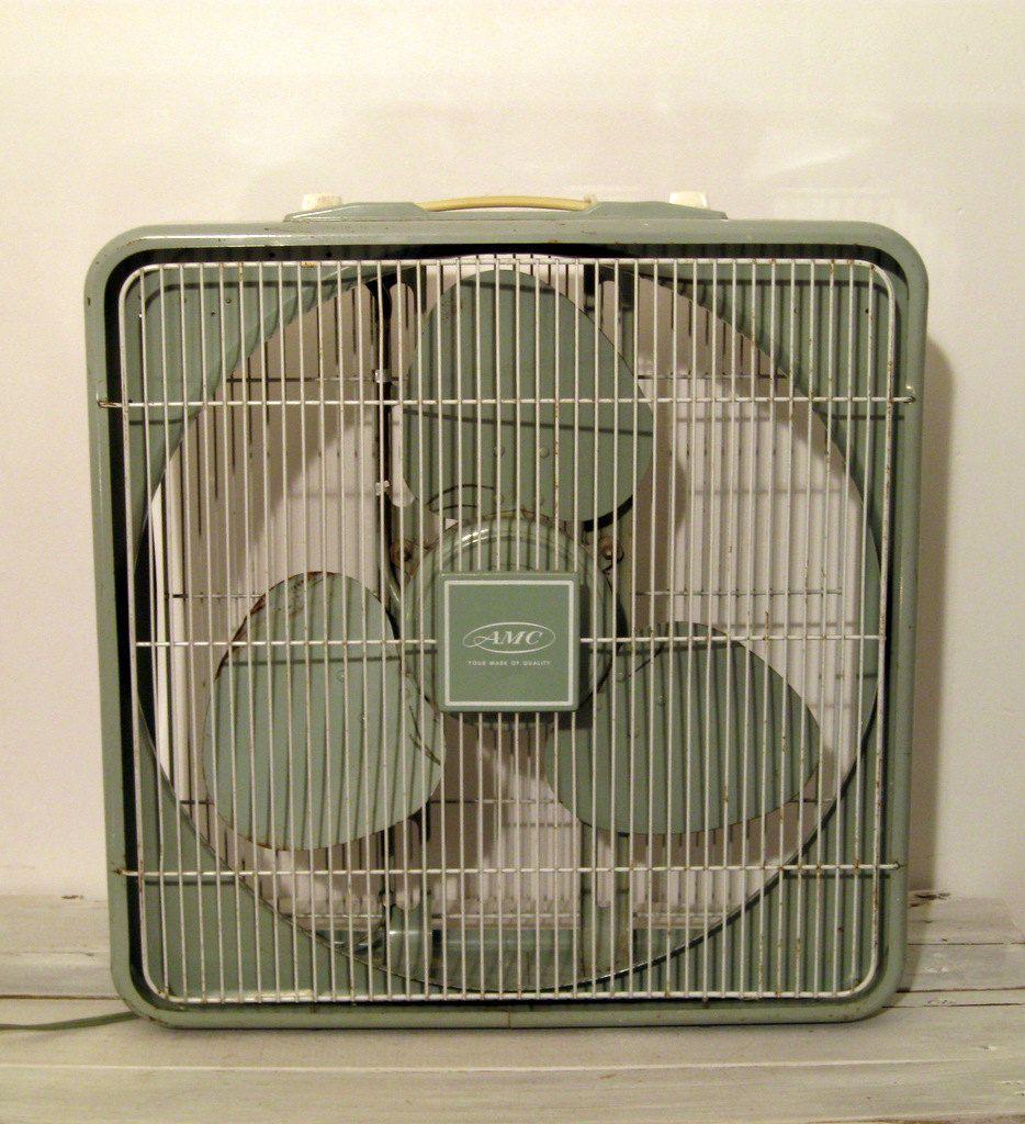 1960s Box Fan : S a m c celadon green box fan products i love