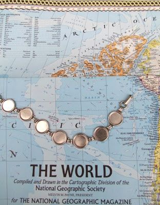 My Salvaged Treasures: Diamond Glaze Around the World Bracelet