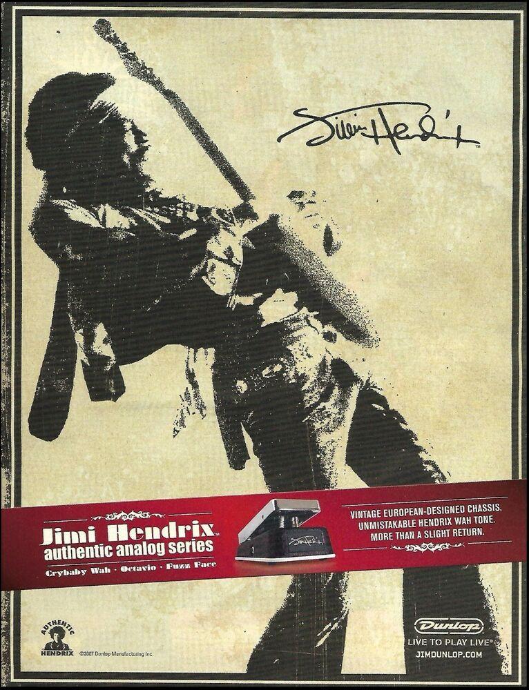 Jimi Hendrix Signature Series Dunlop Crybaby Wah Guitar