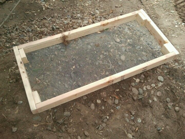 An Easy To Make Sifter For Getting Rocks Out Of The Topsoil Top