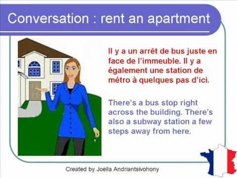 French Lesson 61 - Rent an apartment or a house - Formal
