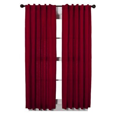 Red Curtains In Living Room Red And Brown Already