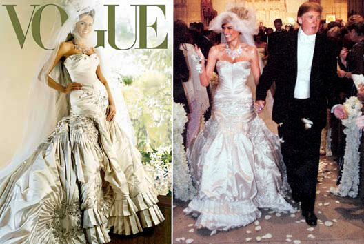 Trump S Wife S Wedding Gown Melania Trump Wedding Dress Created By John Galliano Weighing Over Trump Wedding Melania Trump Wedding Wedding Dresses