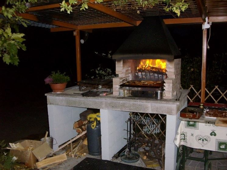Cucine esterne da giardino in muratura da giardino - Cucine da esterno in muratura ...