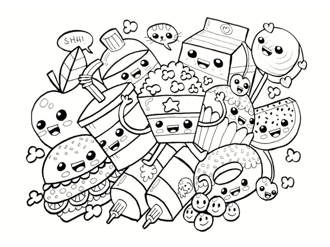 Coloriage Kawaii Nourriture 15 Dessins Imprimer Coloriages Pour