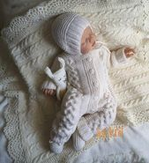 Knit baby clothes Hand knitted white baby romper Knitted baby boy girl jumpsuit Hand knitted  Knit baby clothes Hand knitted white baby romper Knitted baby boy girl jumps...