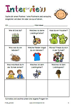 Fragen zum kennenlernen in der schule