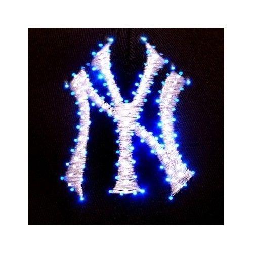 7555bef399a MLB New York Yankees LED Light Up Flashing Logo Adjustable Hat Baseball Cap  NEW  NewYorkYankees