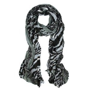 Multi Color Leopard & Zebra Mix Print Tribal Style Scarf - Different Colors Available