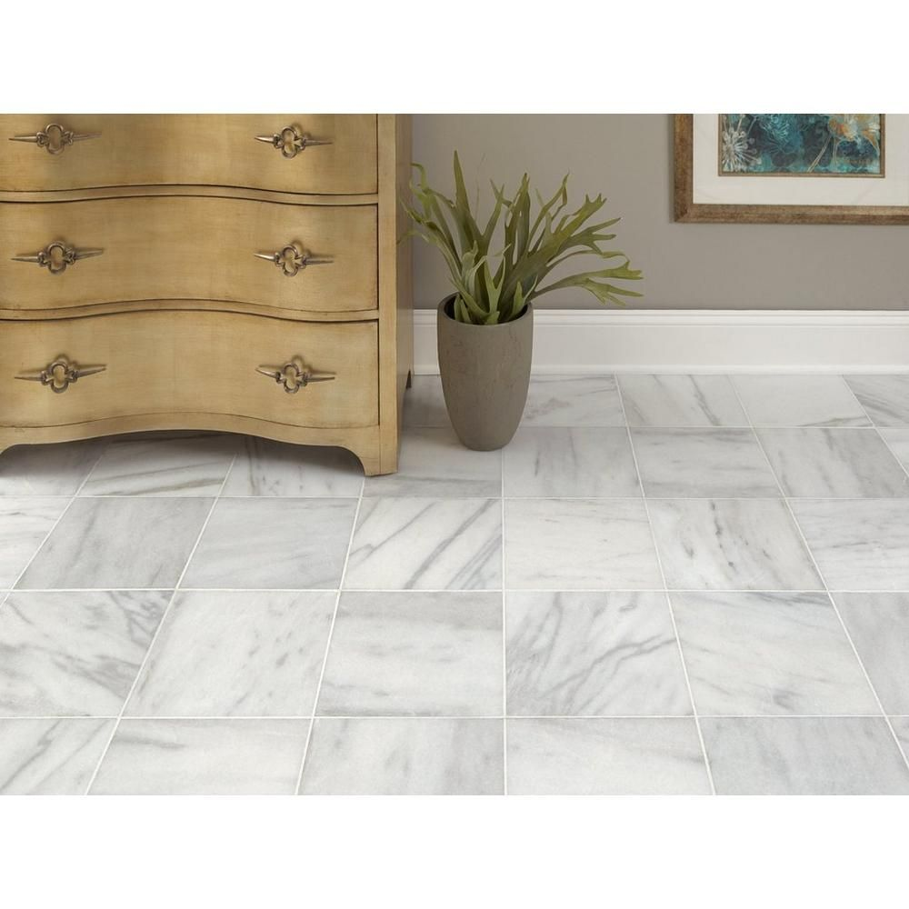 Aurora White Polished Marble Tile Countertop
