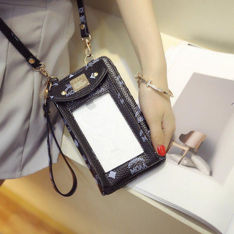 a2fdf4018467 Women's PU Touch Screen Crossbody Phone Wallet Bag Shoulder Bag ...