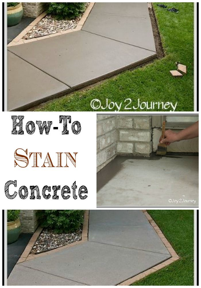 Staining A Concrete Walkway Stains Mom And Walkways