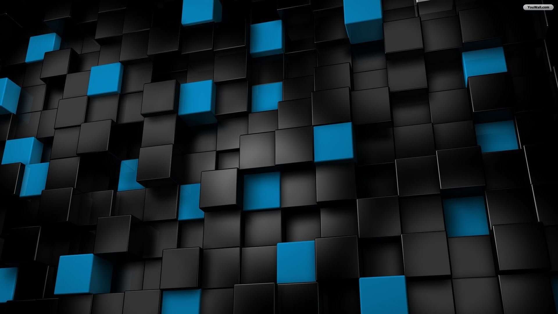 Black And Blue Cubes Wallpaper Black And Blue Wallpaper Cool Blue Wallpaper 3d Cube Wallpaper