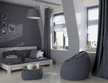 couleur peinture salon degrade de gris clair et gris galet leroy merlin