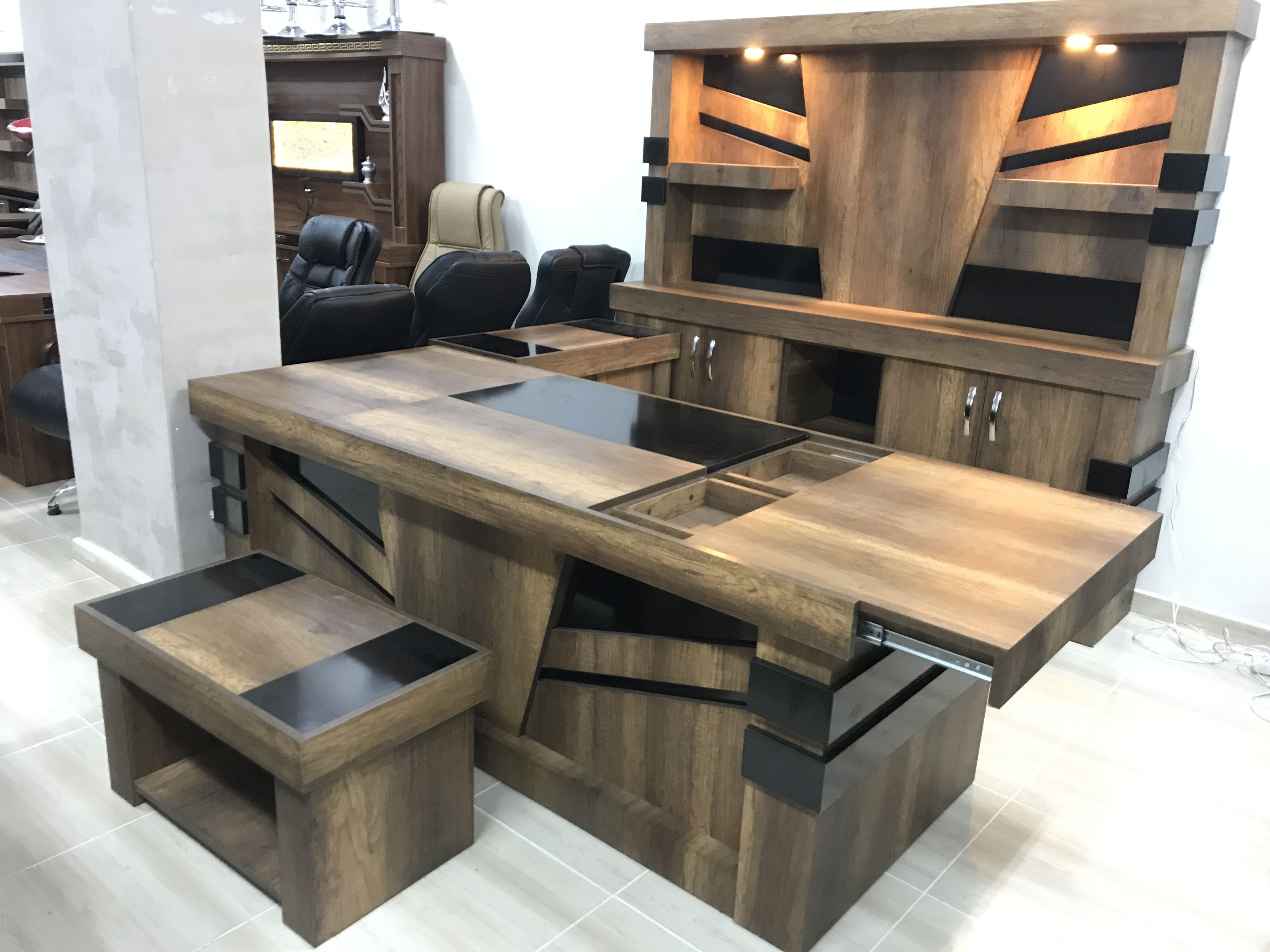 Pin By Samuel Onsy On Desk Dimensions In 2020 Office Table Design Luxury Office Furniture Desk Dimensions
