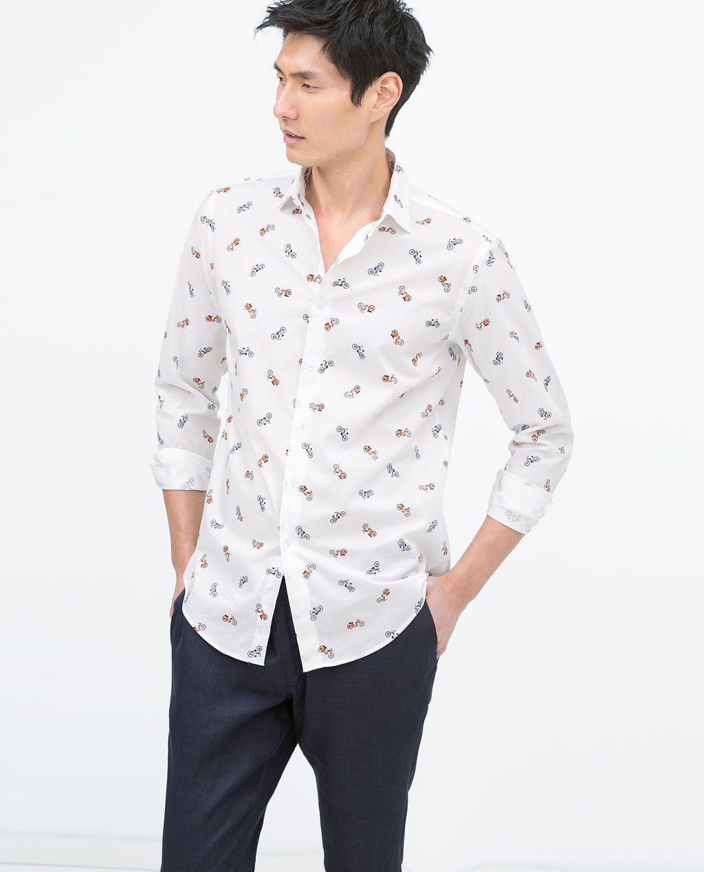 zara man poplin shirt mens shirts chemise. Black Bedroom Furniture Sets. Home Design Ideas
