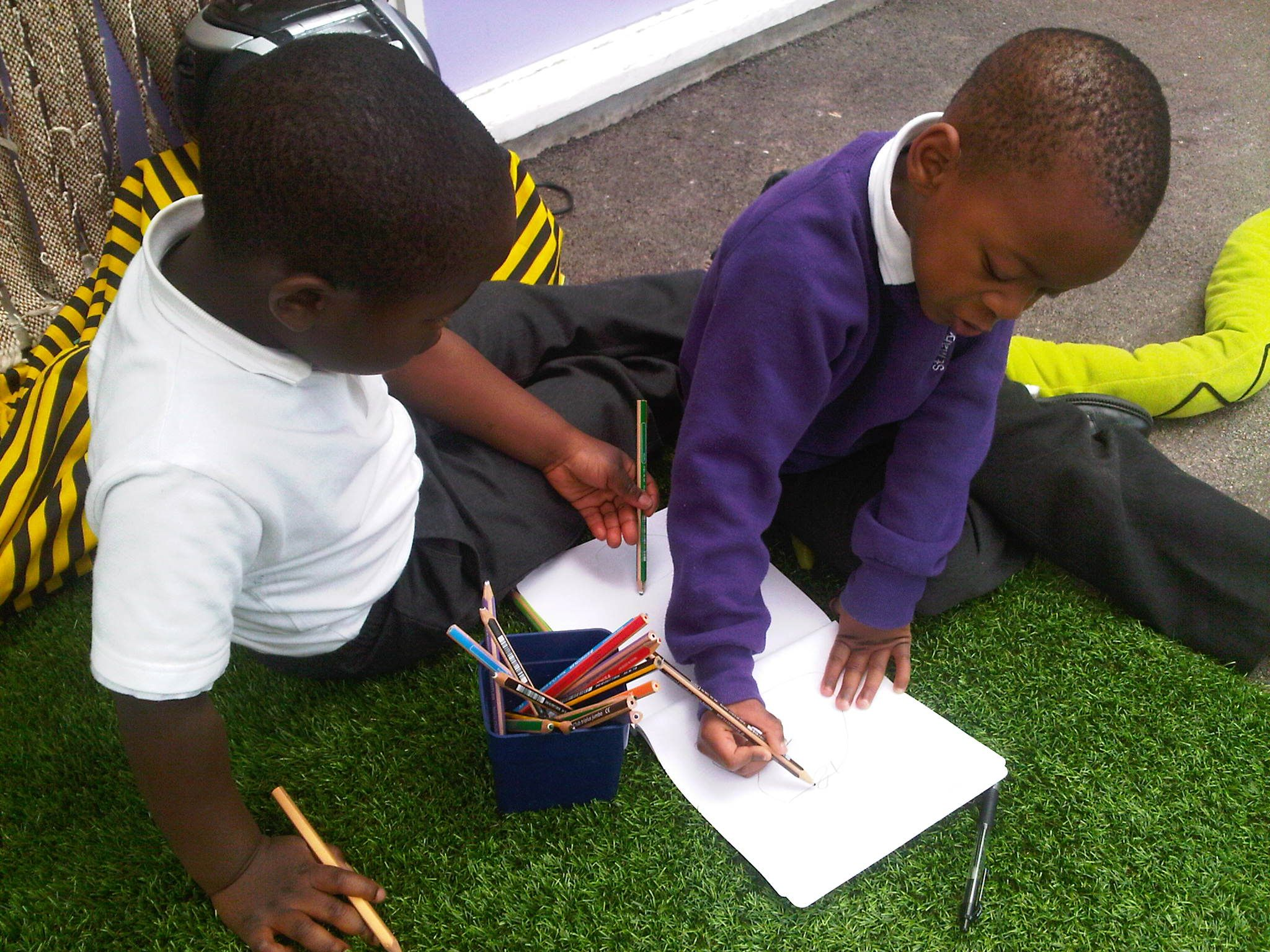 Engaging boys with mark making business for kids