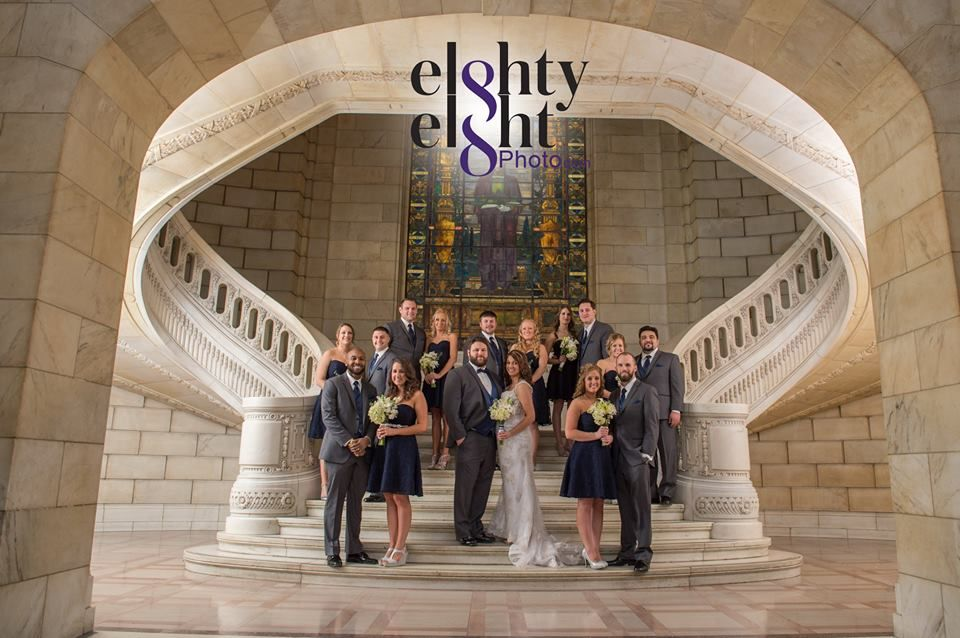 Wedding Party Photography At The Old Courthouse In Downtown Cleveland Ohio C Eighty Eight Photo Ww Cleveland Wedding Chelsea Wedding Wedding Party Photography