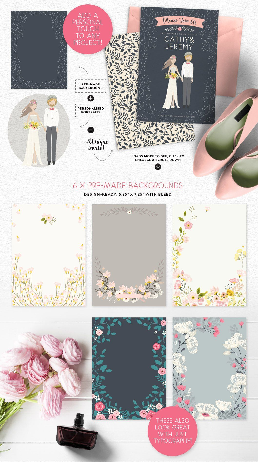 personalised portrait creator by lisa glanz on creativemarket ad