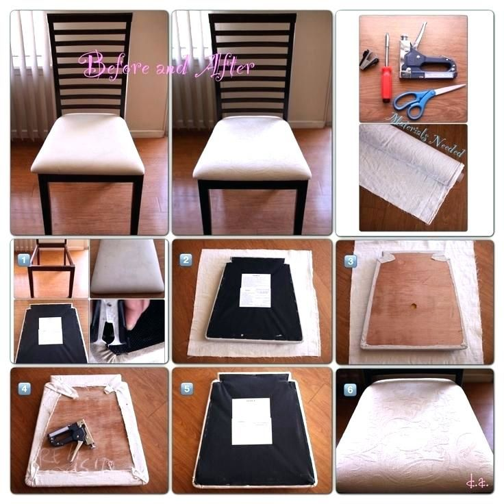 Reupholster Kitchen Chair Ideas Dining Chairs Diy Reupholster