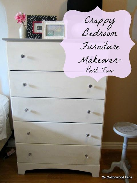 24 Cottonwood Lane Bedroom Furniture Makeover- Part 2 DIY