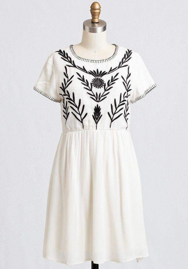 3858f910e20 Summer Wind Embroidered Dress
